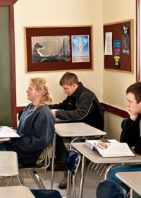 teens in a classroom