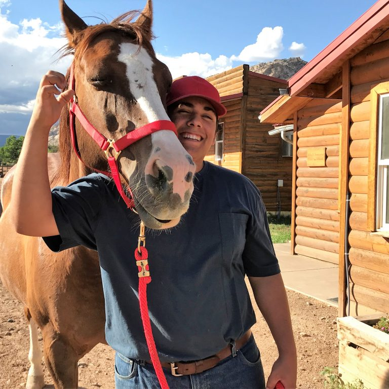 equine therapy at teen boot camp