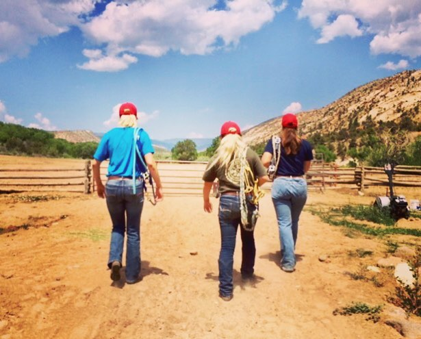 Turn-About Ranch students walking