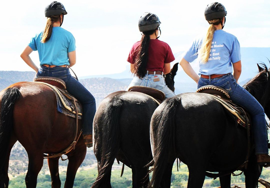 riding horses at Turn-About Ranch