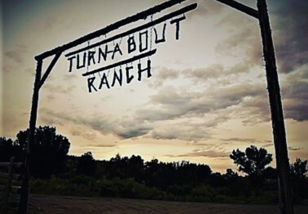 Turn-About Ranch sign